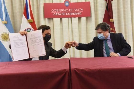 Gustavo Sáenz y el canciller de Paraguay acuerdan convenios recìprocos