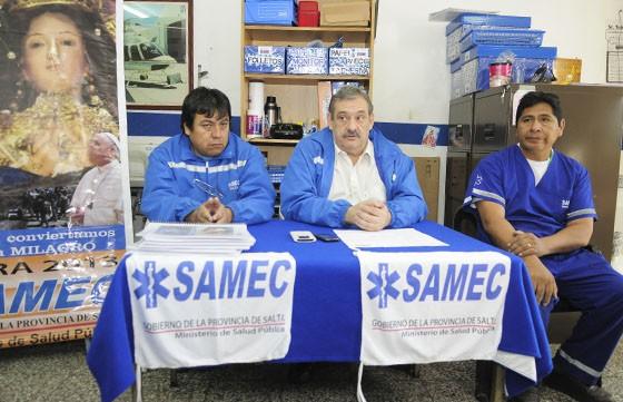 El SAMEC presta asistencia durante la Procesiòn