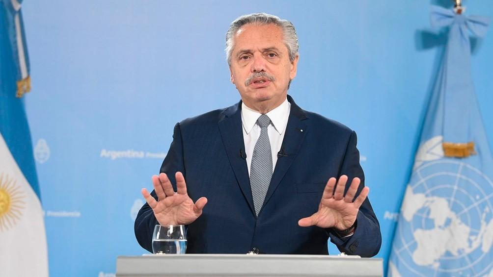Alberto Fernandez habla ante la ONU