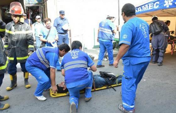 Se realiza un simulacro de incendio en el Hospital Público Materno Infantil