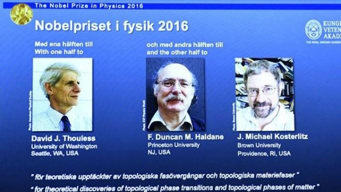 Tres británicos se llevaron el Premio Nobel de Física por sus investigaciones sobre la materia