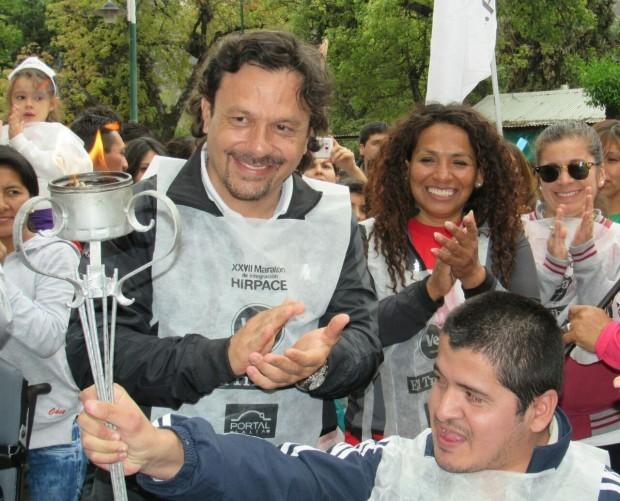 Sáenz:La maratón de Hirpace es un gran gesto de los salteños de integración y motivación