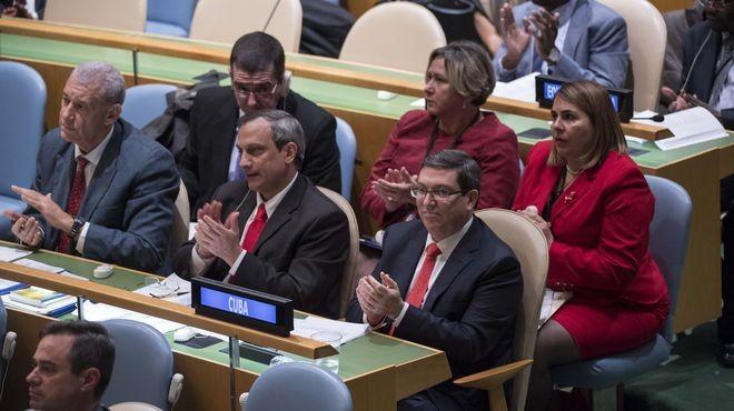 Estados Unidos se abstuvo en la resolución de la ONU contra el embargo a Cuba