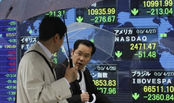 Las bolsas de Asia tocan máximos en una década