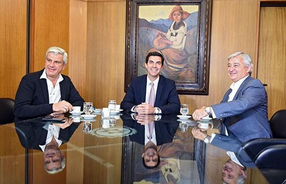 Urtubey se reunió con los diputados nacionales electos Martín Grande y Andrés Zottos