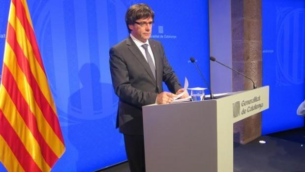 El presidente catalán suspende su comparecencia en el Palau