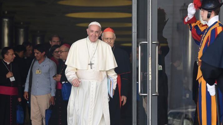 Francisco cayó tras una reunión en el Vaticano