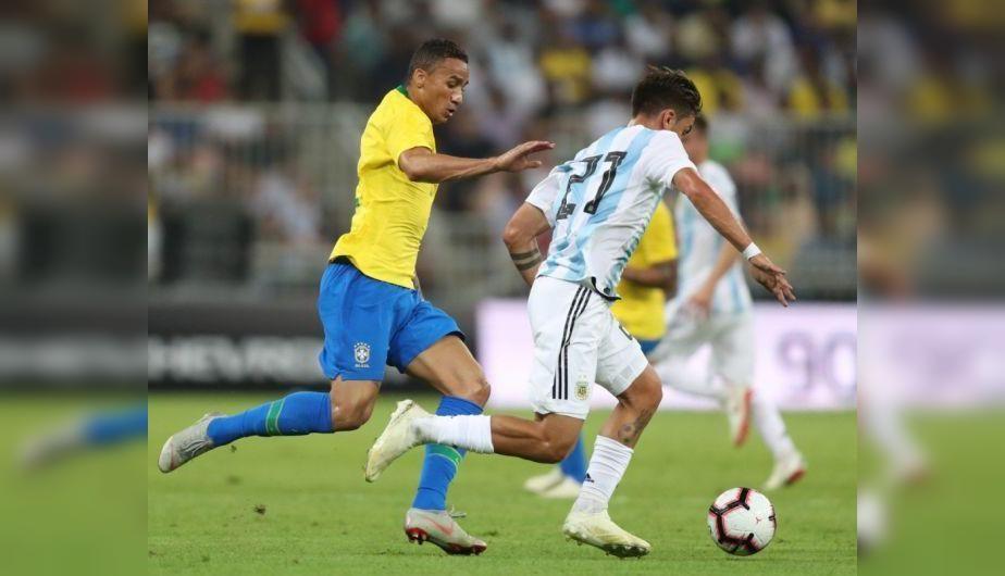 Brasil derrotó 1-0 a Argentina en el amistoso