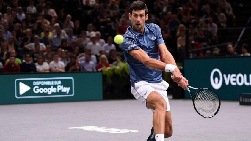 Djokovic debutó con triunfo en París-Bercy