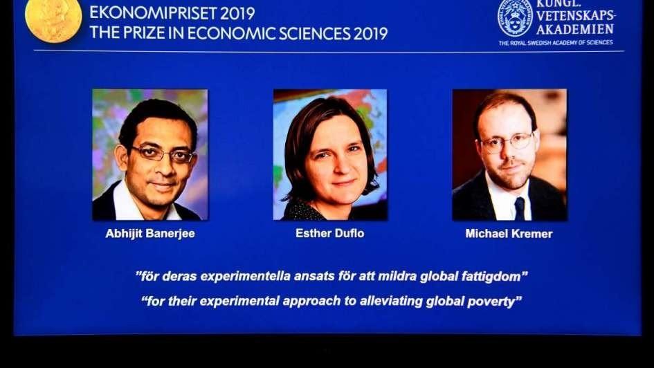Nobel de Economía a tres estadounidenses por su trabajos sobre pobreza