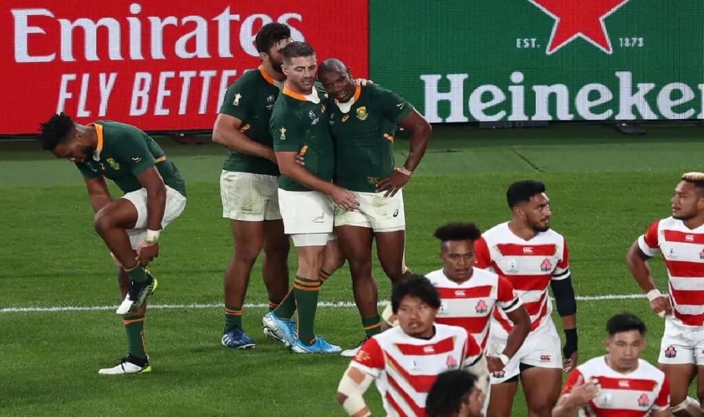 Sudáfrica terminó con el sueño de Japón y está en semifinales