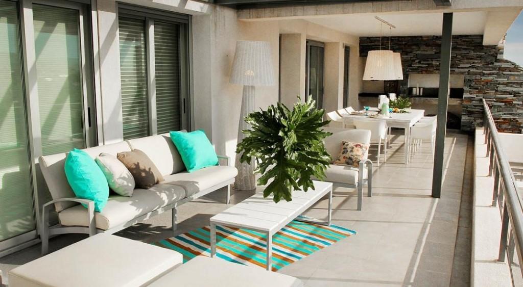Tiempo de verano disfrutar la terraza a nueva