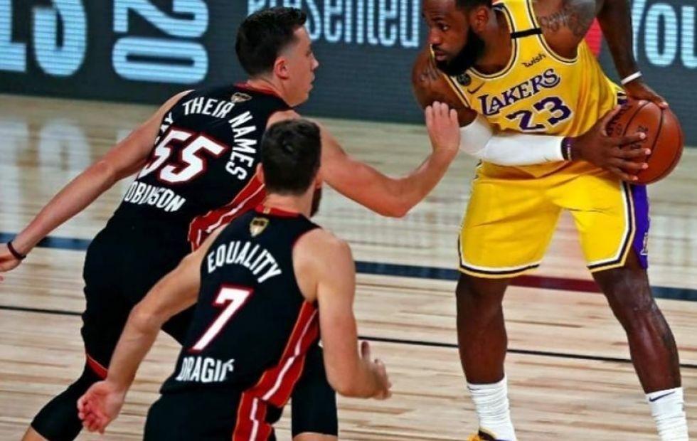 Los Ángeles Lakers y Miami Heat se miden en la gran final