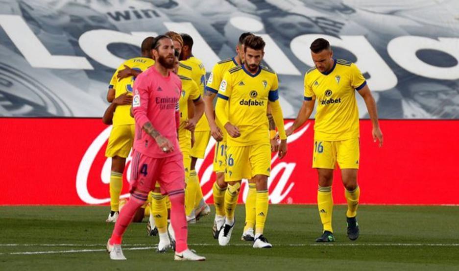 El Cádiz  le ganó a Real Madrid