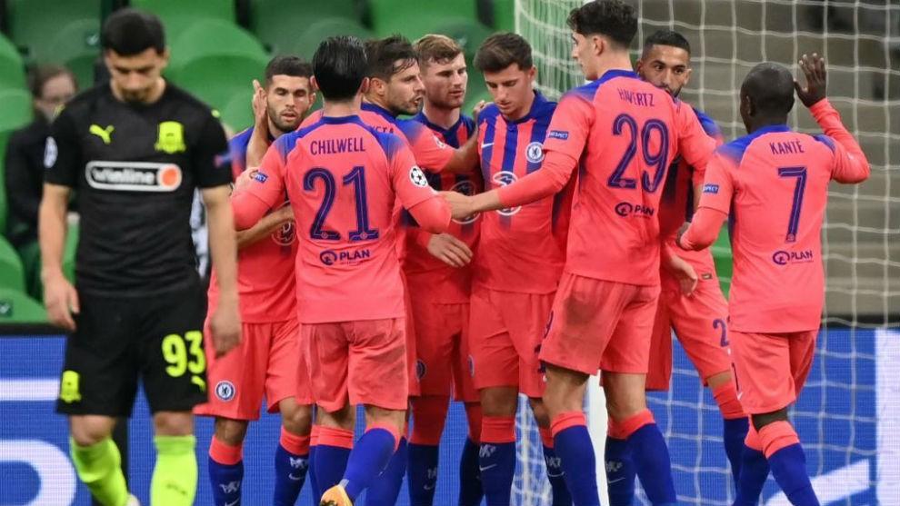 El Chelsea le pego 4 a 0 al Krasnodar
