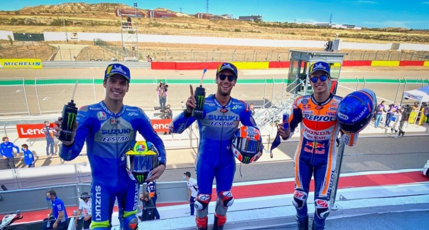Alex Rins ganó el MotoGP en Aragón