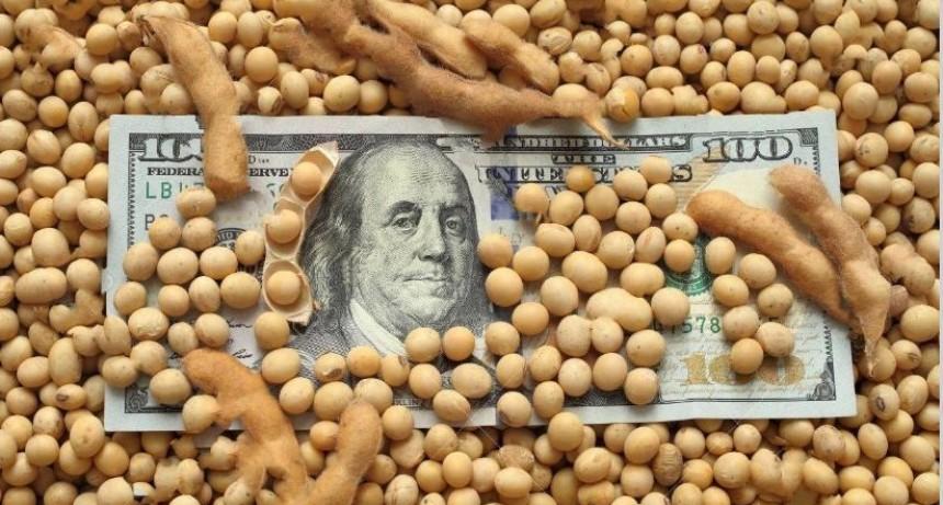La soja quedó a centavos de superar los US$ 400 en Chicago