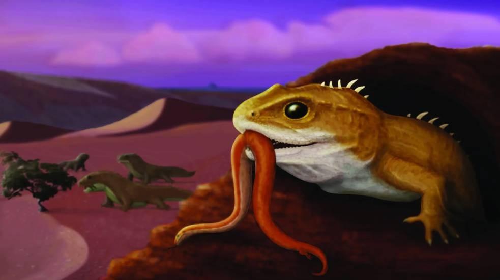 Descubren reptil más antiguo del hemisferio sur