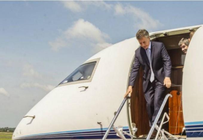 Macri visita en Santa Fe las obras del Metrobus