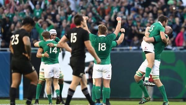 Irlanda le ganó a los All Blacks por primera vez