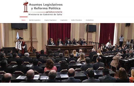 Asuntos Legislativos y Reforma Política presenta hoy su página web