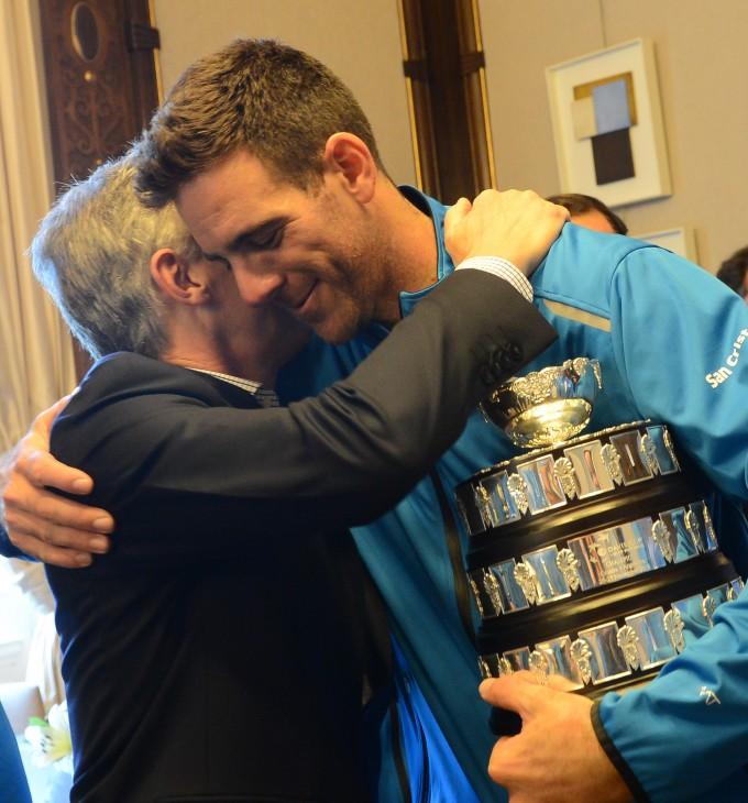El presidente Macri recibió al equipo campeón de la Copa Davis