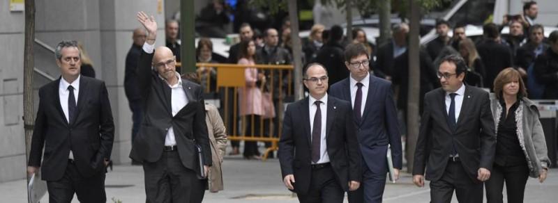 La Fiscalía pide prisión incondicional para todo el Govern de Catalunya cesado excepto con Vila