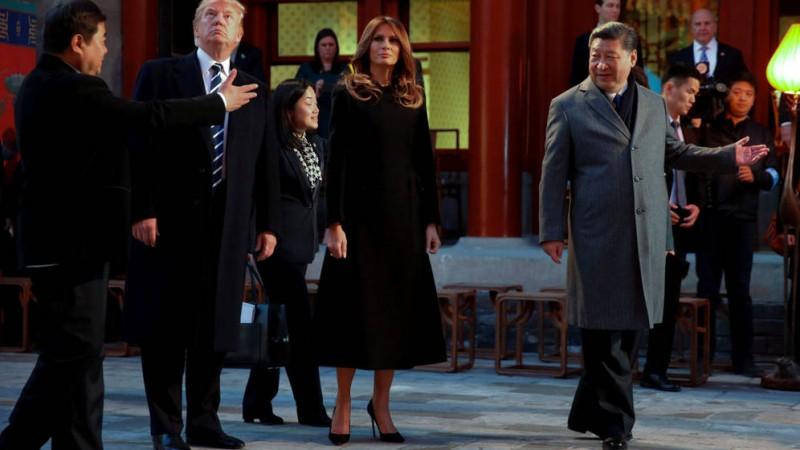 Trump llega a China para aislar a Corea del Norte y lograr un comercio justo