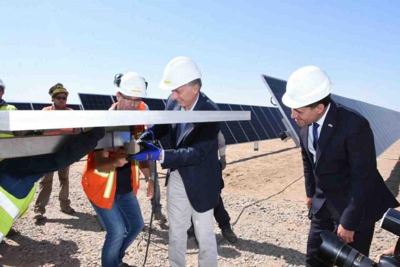 Macri destacó el trabajo que hace la Rioja en energías renovables