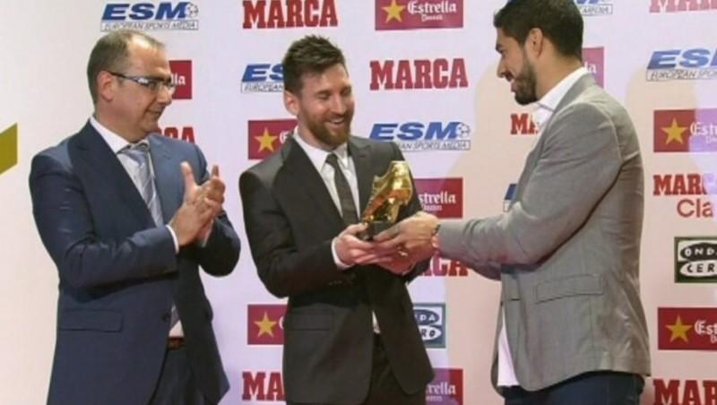 Lionel Messi recibió la Bota de Oro , en directo