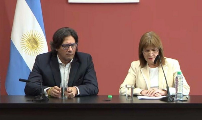 Bullrich y Garavano: Estamos frente a grupos violentos que no reconocen a la Argentina