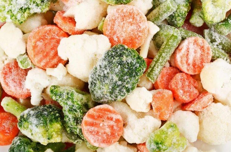 Cocinar con verduras congeladas