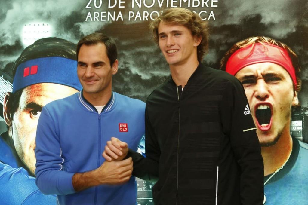 Roger Federer juega ante Alexander Zverev en Buenos Aires