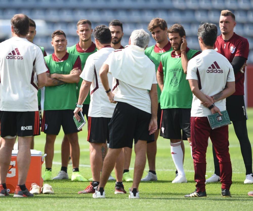 Gallardo no dio a conocer la formación ante Flamengo de Brasil