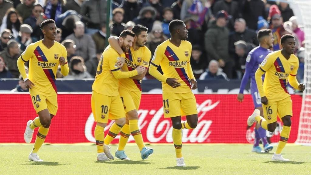 Barcelona le gano 2 a 1 al Leganés