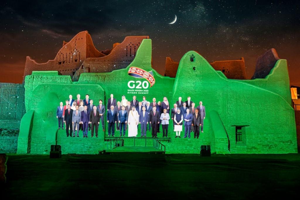 G20: Dónde está Alberto Fernandez en la llamativa foto de familia virtual