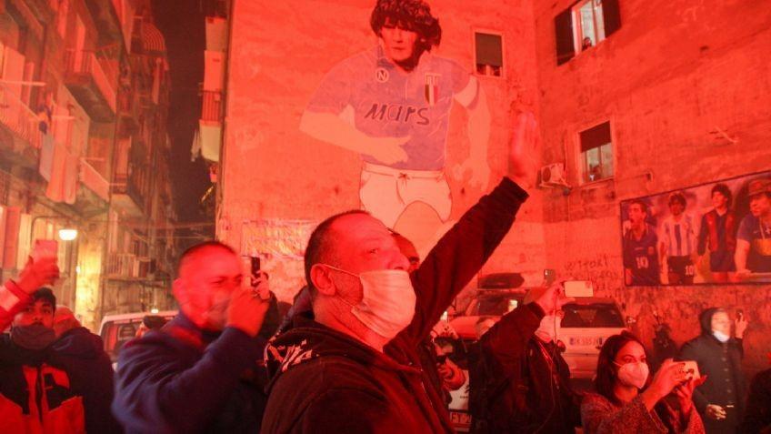 Maradona es homenajeado en Nápoles
