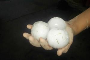 El granizo arrasó varios distritos de Tupungato