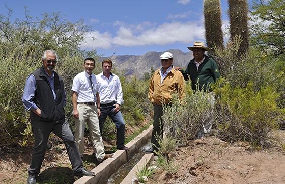 En Amblayo se inauguró el acueducto que optimizará el riego en un 50%