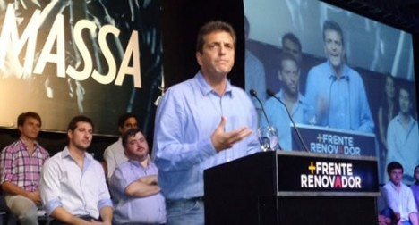 Massa visitó la ciudad de Rosario
