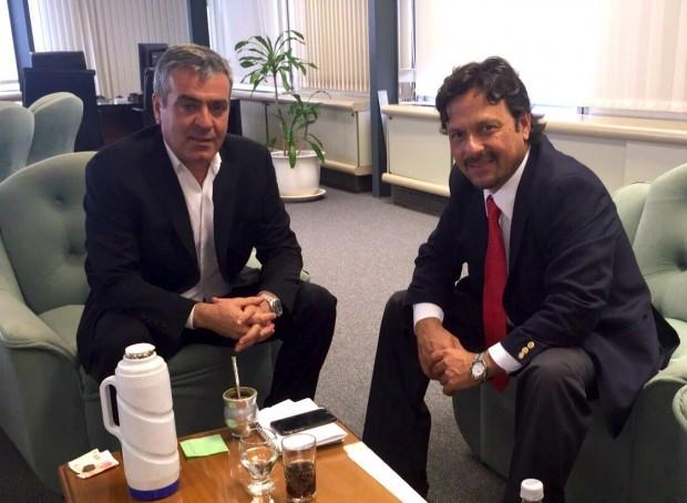 Gustavo Sáenz se reunió con José Cano, titular del plan Belgrano Cargas