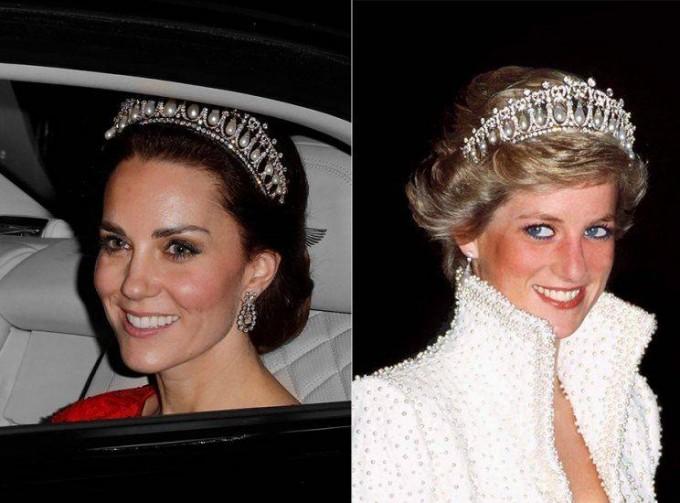 Kate Middleton saca del armario la tiara de Lady Di y la luce por primera vez desde su muerte