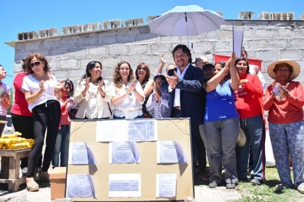 Se dio inicio a  las obras en los barrios Gauchito Gil y Bicentenario.