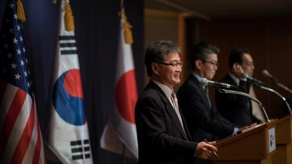 Corea del Sur, Japón y Estados Unidos ratificaron las sanciones impuestas al programa nuclear de Pyongyang