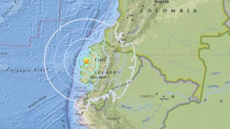 Un sismo de 6 grados sacudió gran parte de Ecuador: hay dos heridos
