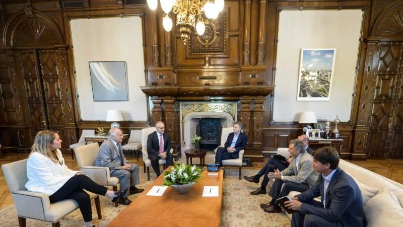 El Presidente recibió a empresarios de Suiza