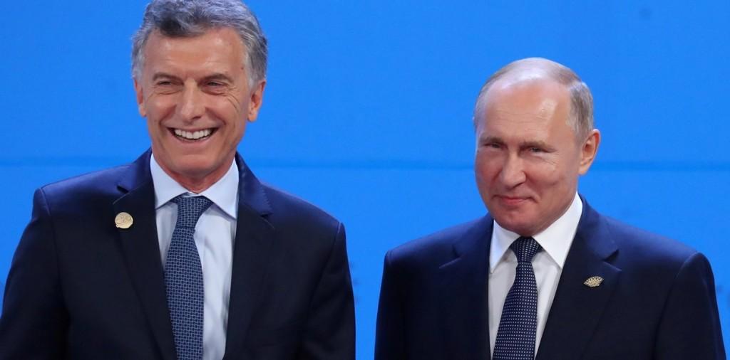Macri: recibe a Vladimir Putin y el FMI