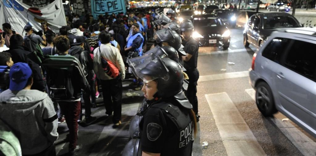 La Policía frenó 6 horas a un grupo piquetero