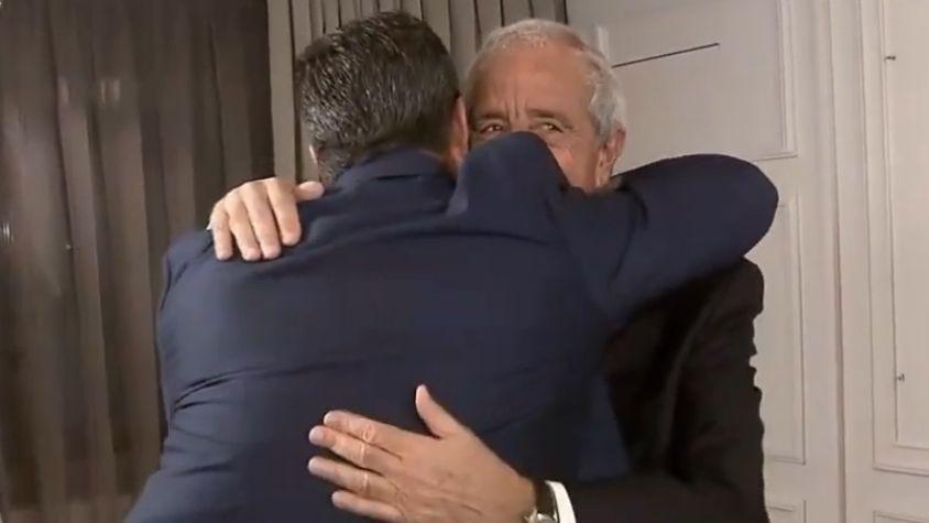 Angelici, D'Onofrio y un abrazo tras la polémica