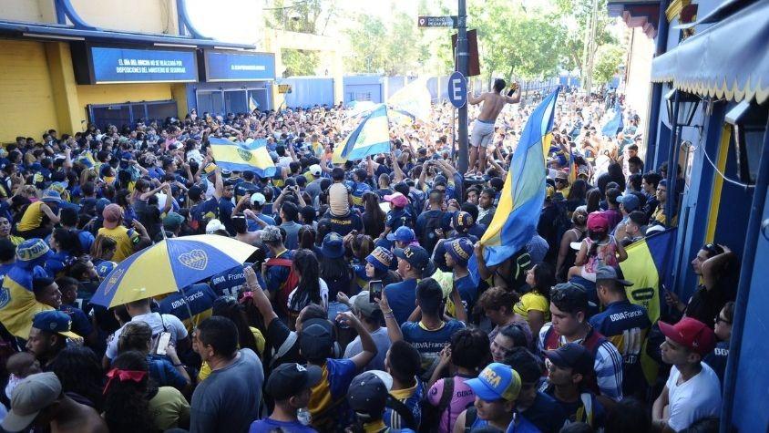 El festejo de Boca termino con incidentes